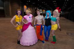 Goku, Bulma, Peach, Faye, Launch