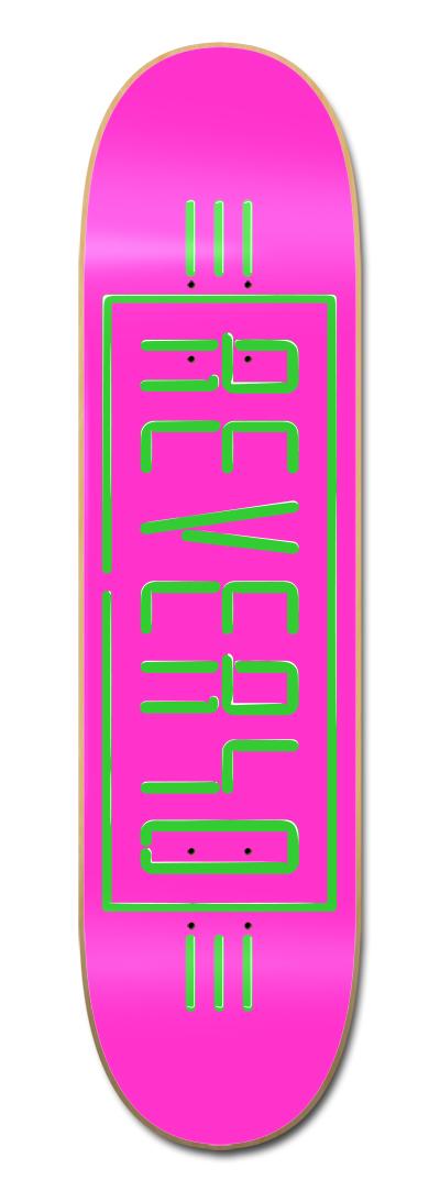 REVERSO SKATEBOARD NEON ROSA