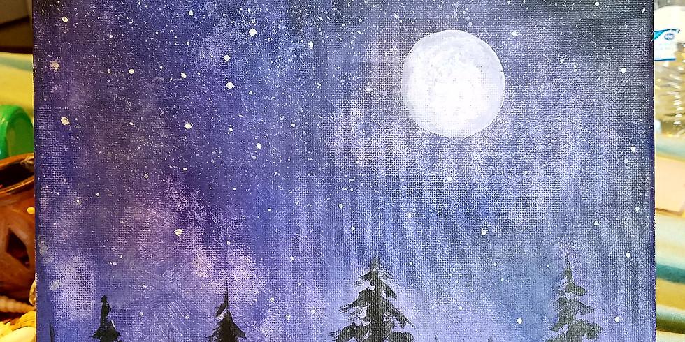 Moonlit Starry Night
