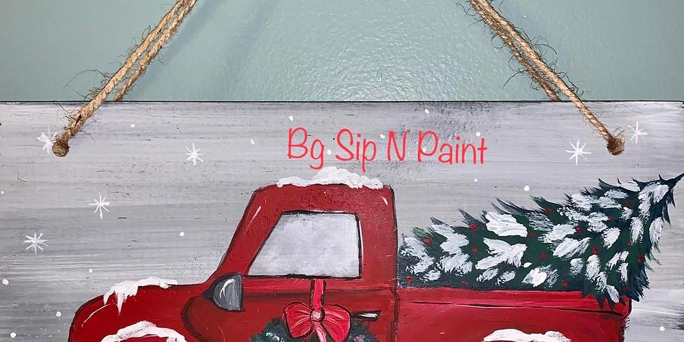 Sold out Christmas Truck door hanger