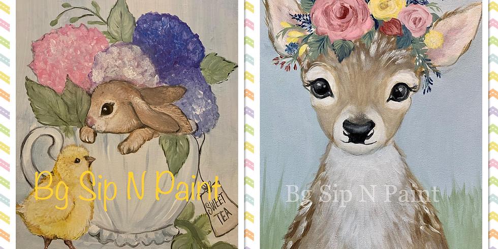 Tea cup and Baby Deer ONLINE tutorial