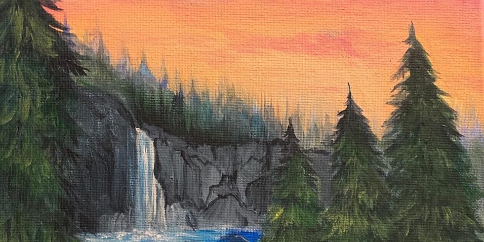 Sundayscape: Waterfall Sunset