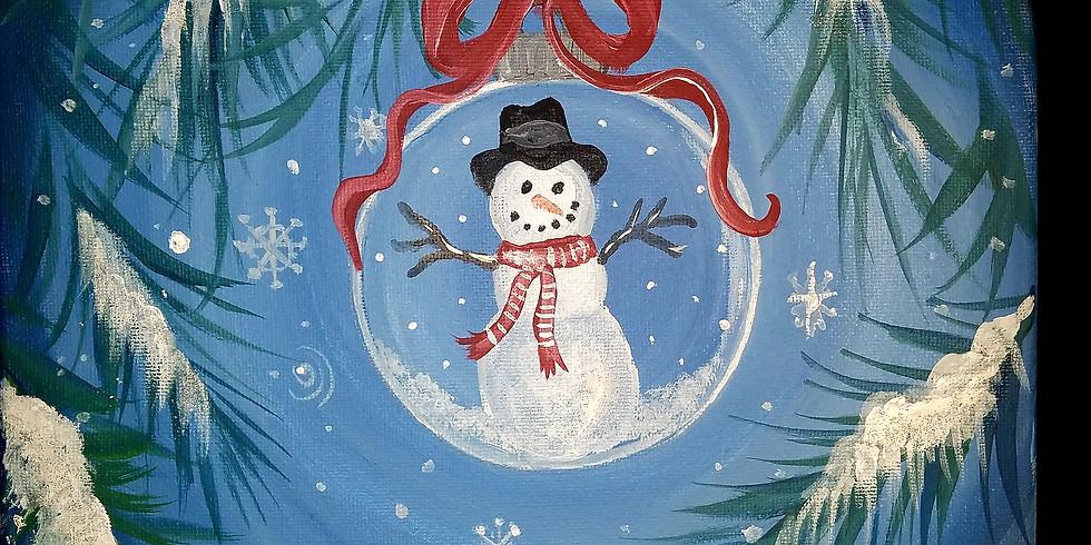 Snowman Ornament with BG Sip N Paint