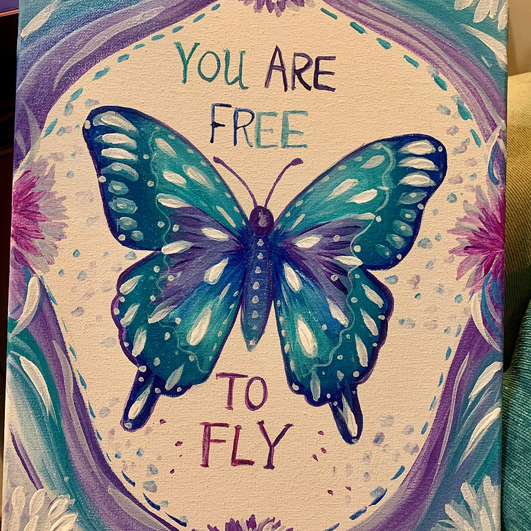 You are Free to Fly Butterfly