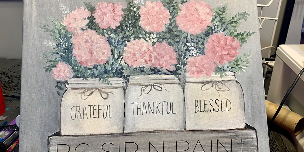 Grateful thankful blessed overflow