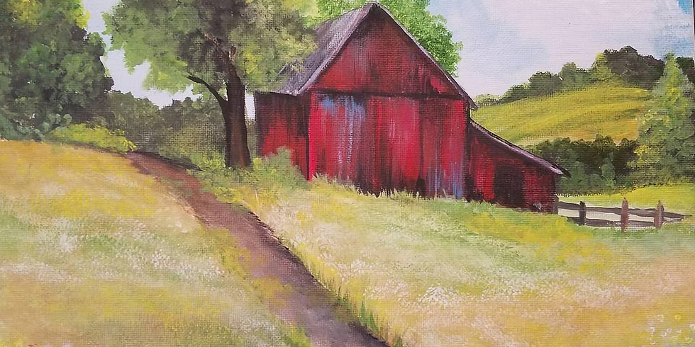 CLASS FULL! -BG Sip N Paint: Old Red Barn