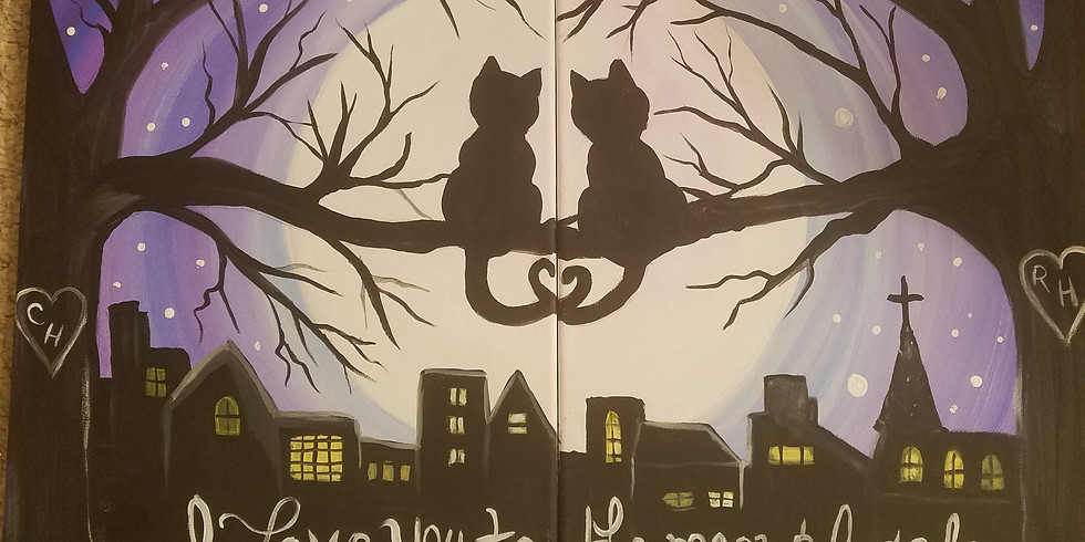 Couple's Paint- Love you to the Moon and Back