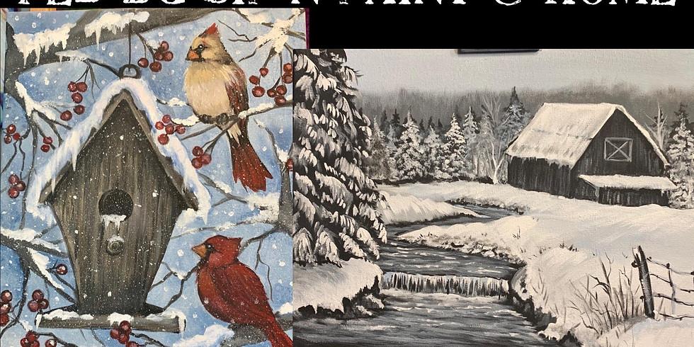 Cardinals and Black Barn Feb. Online Tutorial