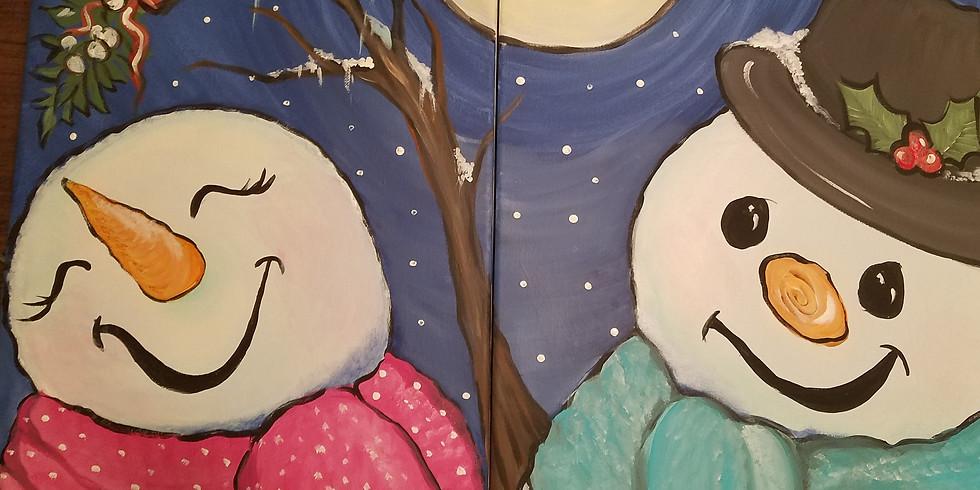 Couples Paint Nite- Mistletoe Cuties
