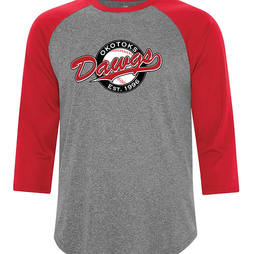Dawgs 3/4 Baseball Shirt