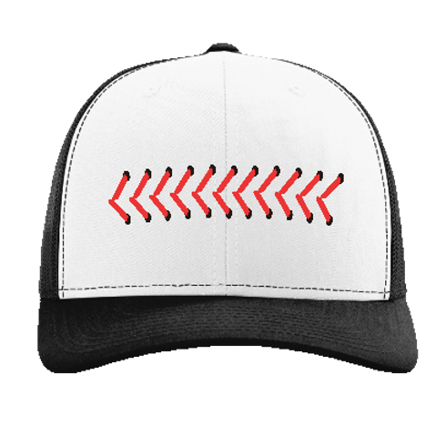 Barrel Up Baseball Seams Trucker Hat
