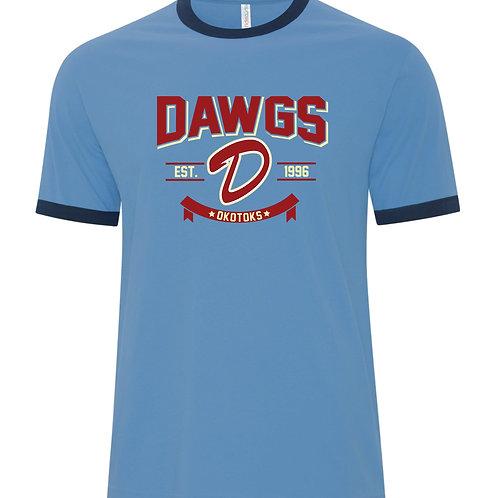 Dawgs Ringer Adult Tshirt