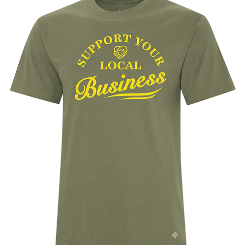 Support Local Business Shirt Olive