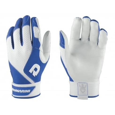 DeMarini Phantom Batting Gloves - white/royal
