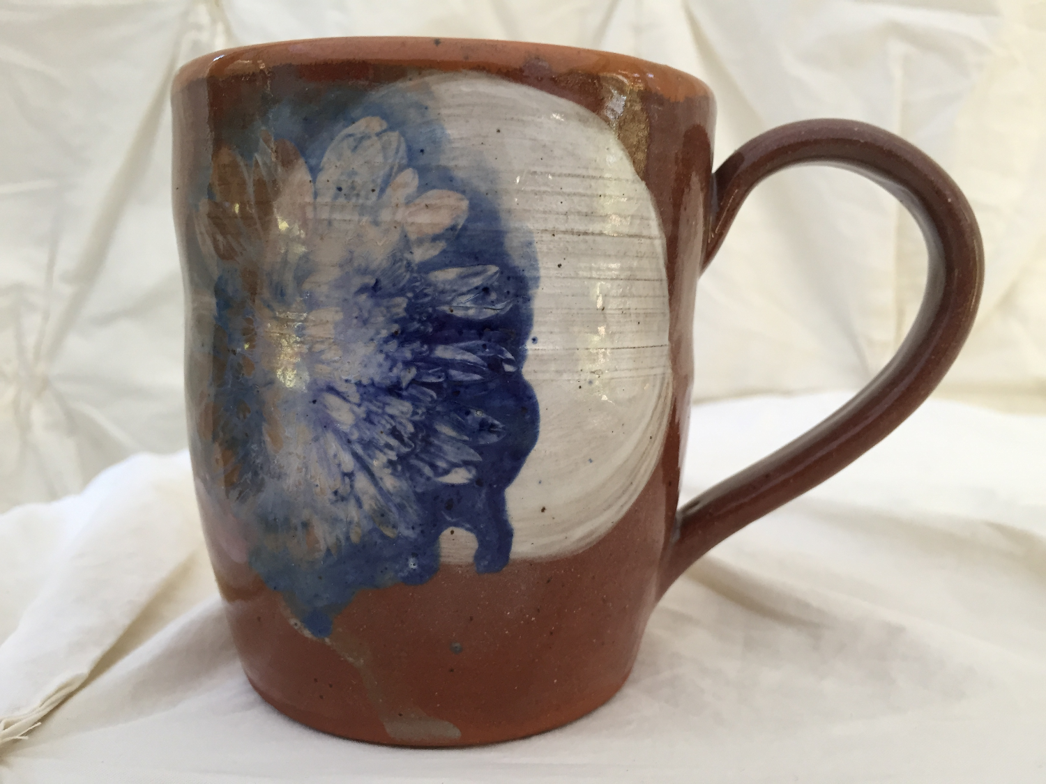 chrystanthemum on navajo clay mug