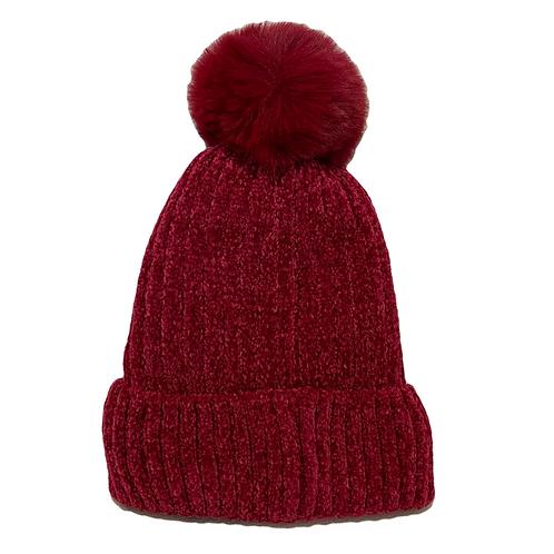 Gorro de lana rojo