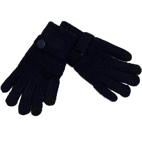 Guantes lana negro
