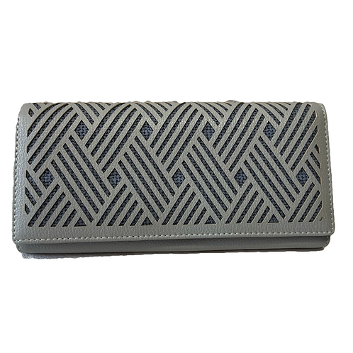 Cartera color gris verdoso