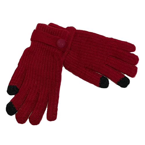 Guantes lana rojo
