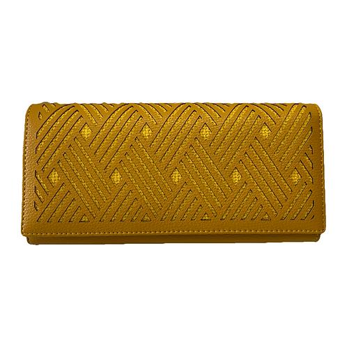 Cartera color oro/amarillo