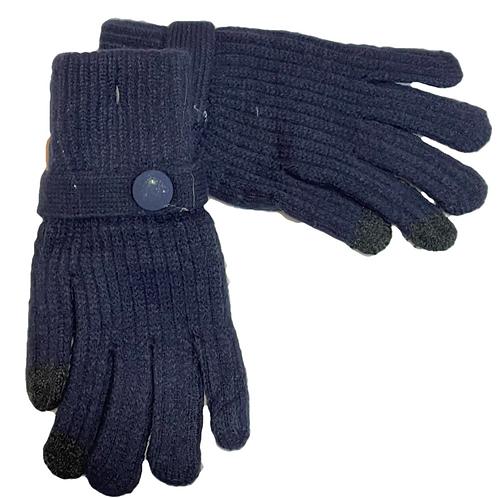 Guantes lana azul