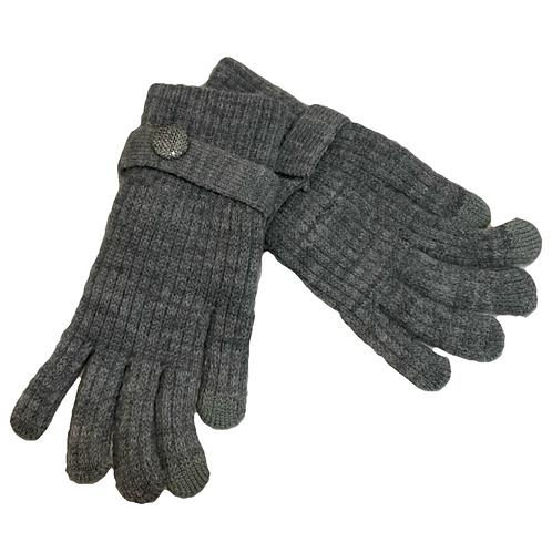 Guantes lana gris
