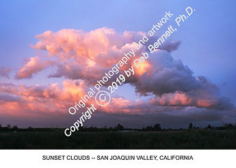Sunset Clouds San Joaquin Valley Califor