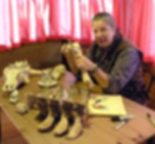 Dr Deb measuring Bones ca 2012 sm.jpg