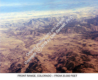 Colorado Front Range from the air 2011 s