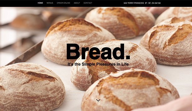 Restaurants & Food website templates – Bread Shop