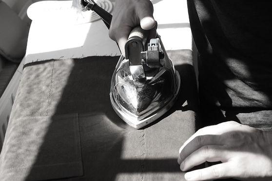Anna Valentine Ironing Finished Garment Details