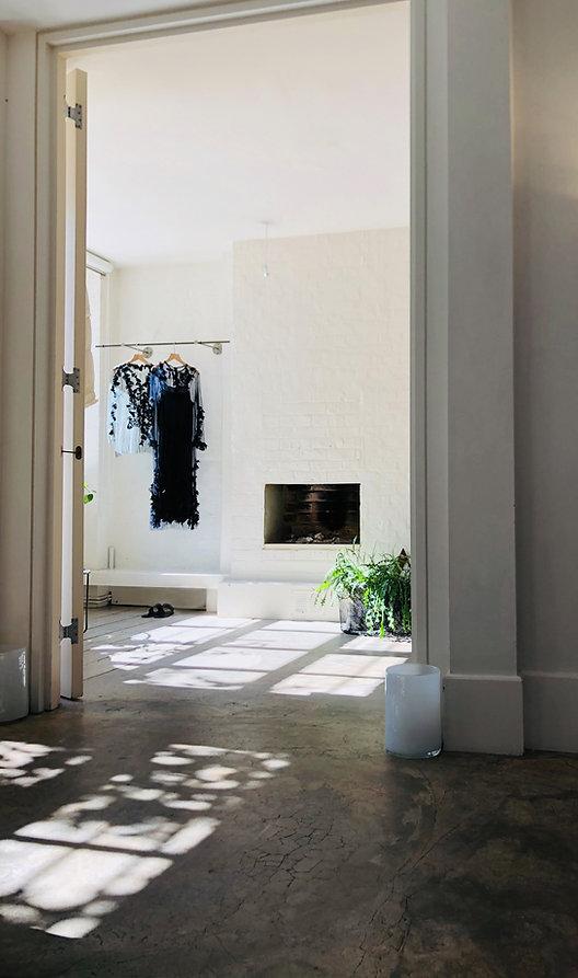 Anna Valentine atelier fitting room
