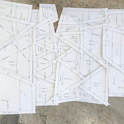 Anna Valentine pattern piece puzzle