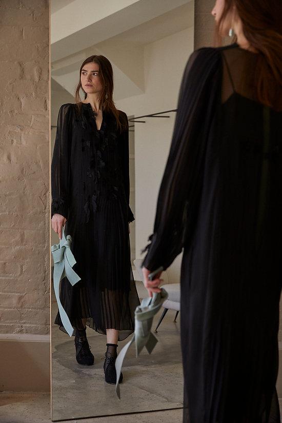 Anna Valentine Pleat and Tuft Georgette Dress #2