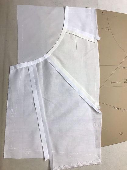 Anna Valentine pattern and garment in process