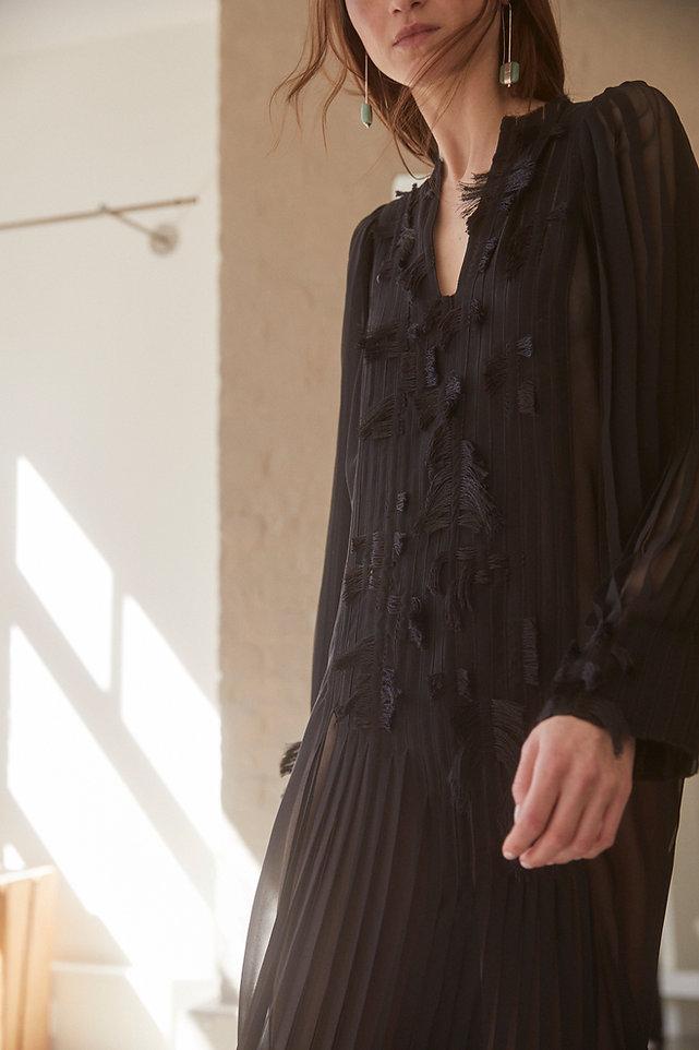 Anna Valentine Pleat and Tuft Georgette Dress #1