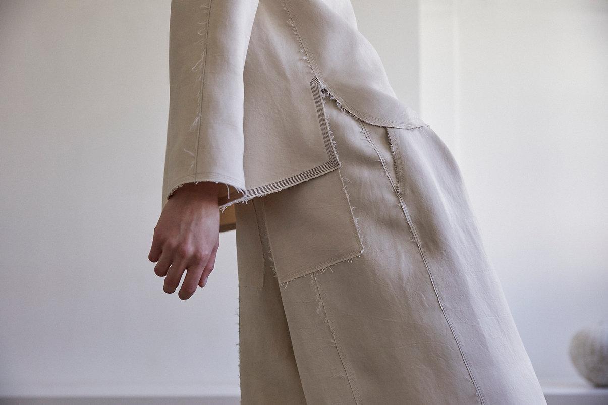 Anna Valentine Tumbled Duchess Throw Back Collar Tunic. Tumbled Duchess Culottes.