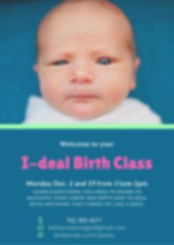 Blue Green Newborn Birth Announcement.pn