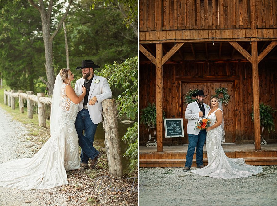 Bride and Groom capturing their Western, Country Wedding at Wicked Pony Ranch