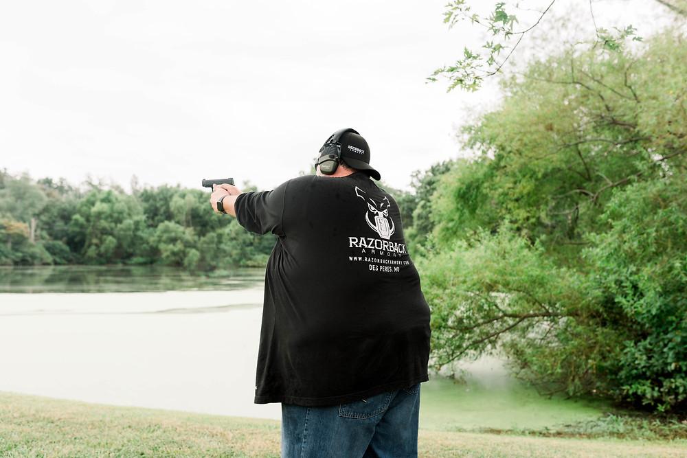 Shooting Guns   Razorback Armory   St. Louis Missouri   Shooting Range