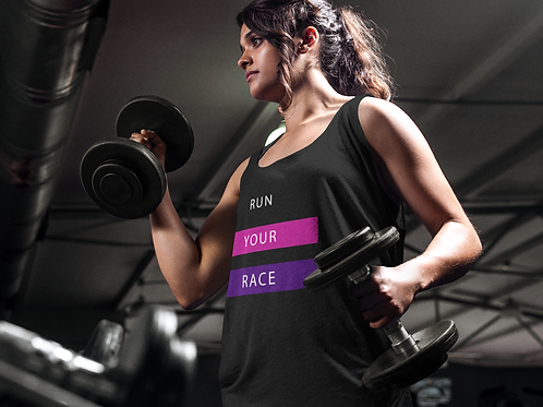 Run Your Race Flowy Muscle Tank for Women