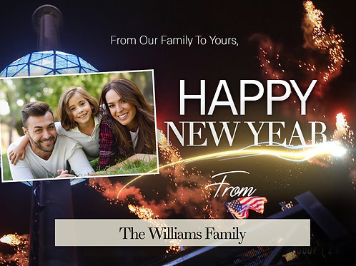 Happy New Year from Our Family to Yours - Greeting Cards
