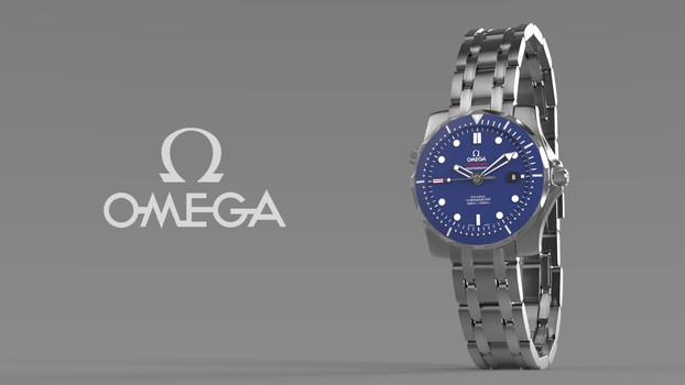 Omega Watch Render