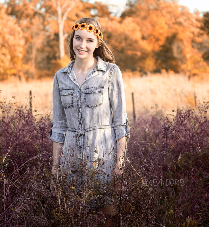 Pontiac IL High School Senior Portraits / Jones Country Gardens / Savannah