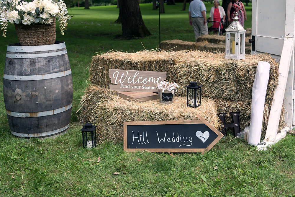 Outdoor rustic wedding forrest il
