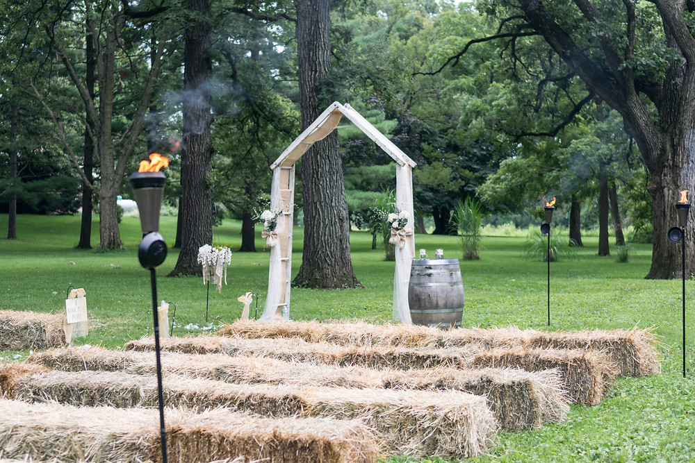 Rustic outdoor wedding details forrest IL