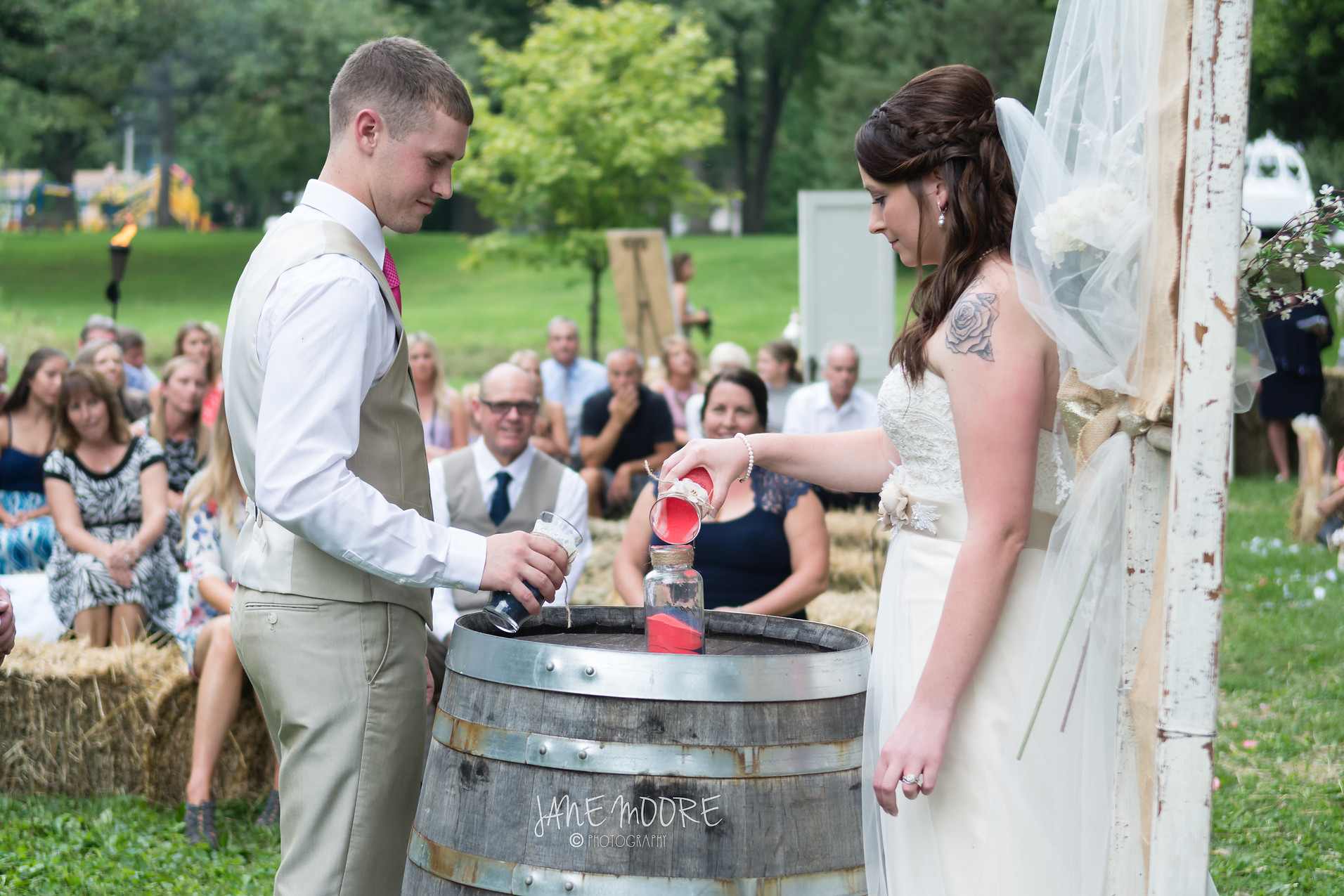 Rustic Wedding Sand Ceremony