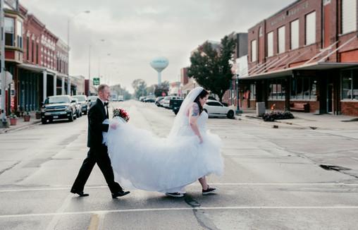 Main Street Fairbury IL Wedding