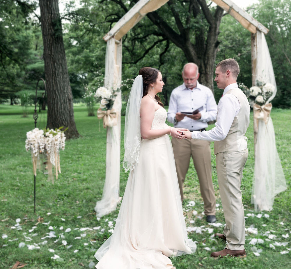 vows outdoor rustic wedding forrest IL