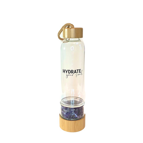 Bamboo Glass Bottle - Amethyst